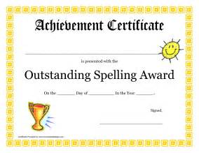 Spelling Bee Award Certificate Template by Best Photos Of Customizable Spelling Bee Award Certificate