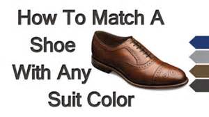 how to color shoes matching dress shoes with suits how to match a shoe with