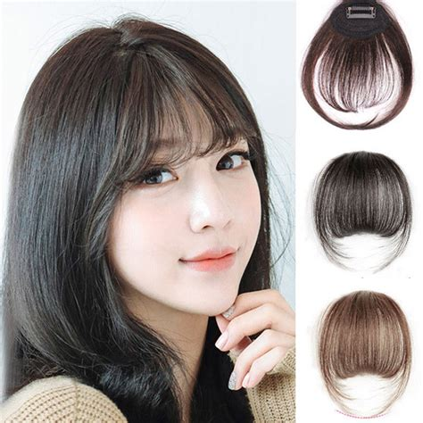 fake bangs clip for thin hair hair extensions for thinning bangs women clip in on bang