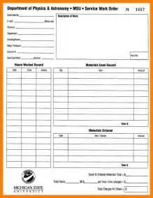 5  free printable work order forms   packaging clerks
