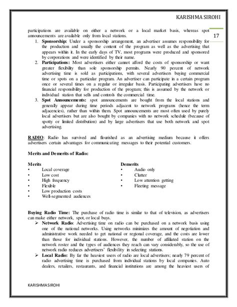 Advertising Mba Notes by Advertising Notes Mba