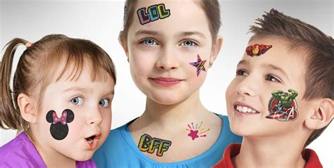 temporary tattoos for boys amp girls party city