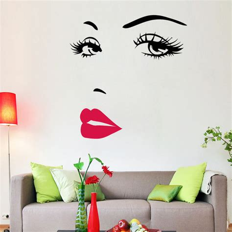 decorative decals for home aliexpress com buy portrait sexy beauty girl lip eye 3d