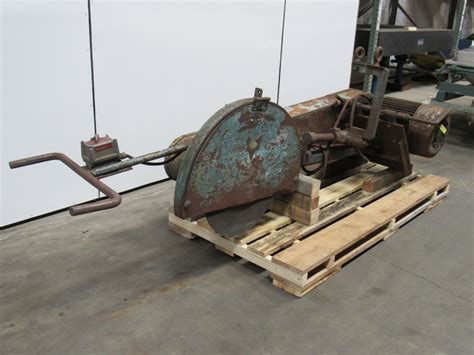 swing saw fox 2cd14 30 quot swing frame abrasive wheel cut off saw