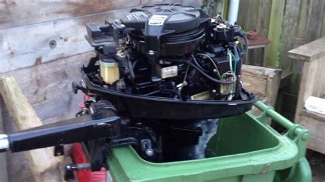 johnson buitenboordmotor 2 5 pk mercury 8pk 2 takt eerste keer starten doovi