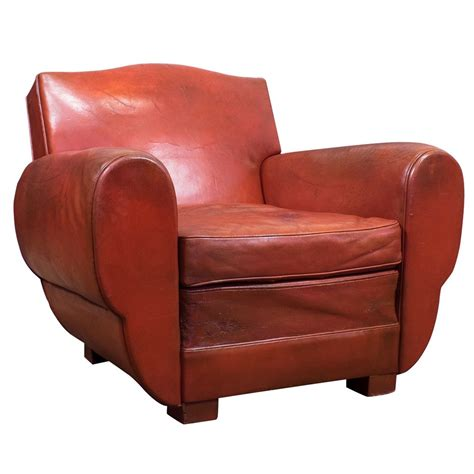 superb vintage leather club chair at 1stdibs
