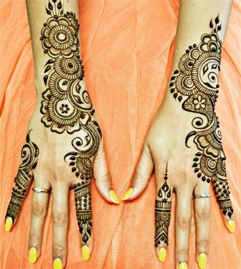 design henna kaki simple very easy design for beginners mehandi designs