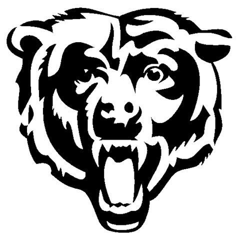 bears football coloring page chicago bears logo clipart best