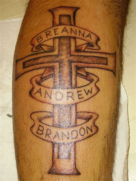 cross with name tattoo cross tattoos with names images design idea