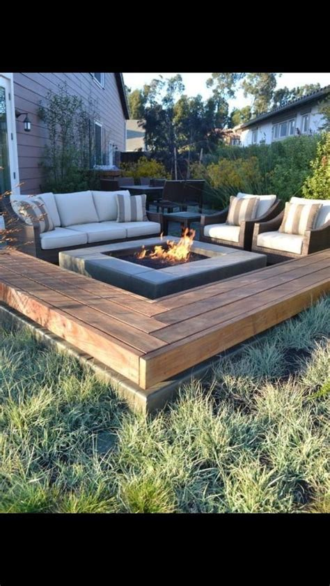 pit built into wood deck roof deck pit deck design and ideas