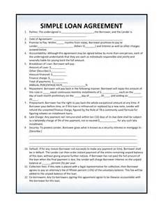 Blank Loan Agreement Template by Free Loan Agreement Forms Pdf Template Form