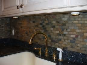 Slate Backsplash Tiles For Kitchen by Tumbled Slate Backsplash