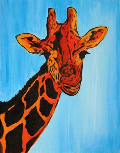 Modern Farmhouse Art by Hand Made Giraffe Pop Art Modern Abstract African