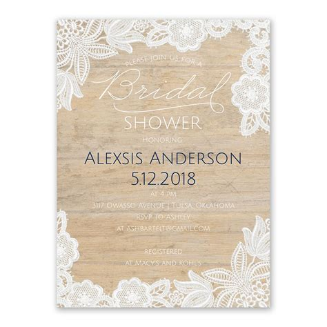 vintage country bridal shower invitation s bridal bargains