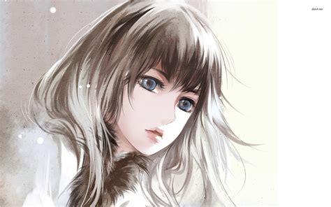 wallpaper anime eyes blue eyed anime girl wallpaper art drawings