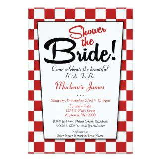 50 s style wedding shower invitations retro diner invitations announcements zazzle