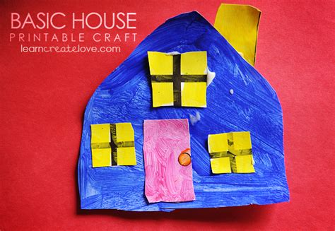 house crafts simple house craft with printable