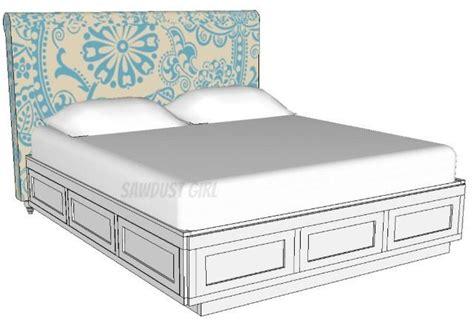 platform storage bed plans cal king platform storage bed free plans sawdust girl 174