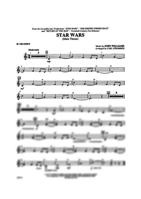 theme songs john williams star wars 174 main theme 1st b flat trumpet john williams