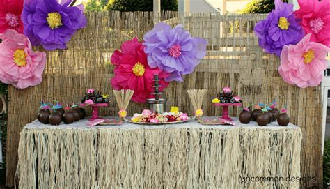 hawaiian themed decorations ideas hawaiian luau decorations uncommon designs