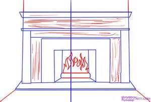 Wooden Fire Pit - how to draw a fireplace step by step stuff pop culture free online drawing tutorial added