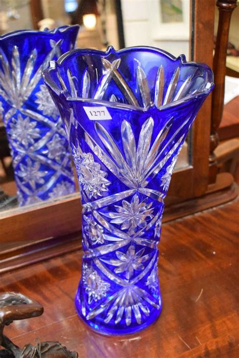 Decorative Colorful Vases by A Decorative Blue Glass Vase