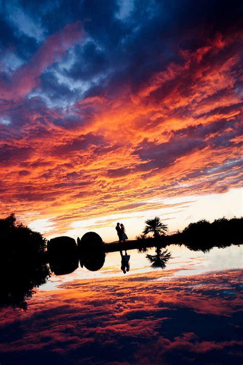 Spotlights For Home Decor gorgeous sunset wedding photo by julian kanz junebug