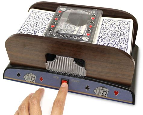 Blackjack Card Shuffler Template by 2 Deck Deluxe Wooden Automatic Card Shuffler