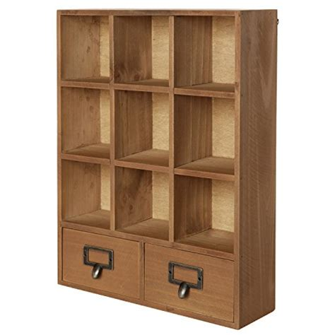 Storage Cabinet Shelves Showcase Wooden Display Drawers Shadow Boxes With Shelves