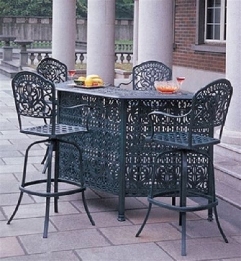 Bar Height Patio Furniture Sets Tuscany By Hanamint Luxury Cast Aluminum Patio Furniture 4 Person Bar Height Set