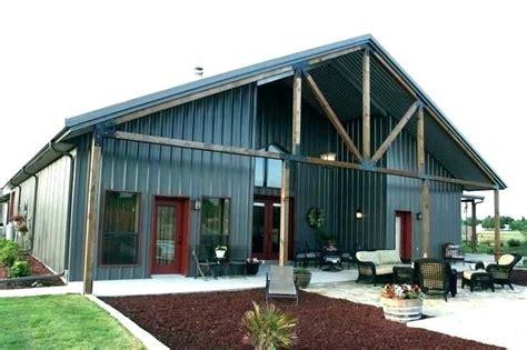 living quarters barn rv pole floor metal building