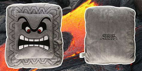 Thwomp Pillow by This Thwomp Pillow Looks But He S Just A Big Softy
