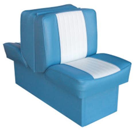 light blue boat seats back to back lounge seat deluxe runner light blue white