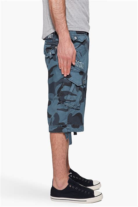 G Star Raw Laundry Camo Rovic Shorts In Blue For Men Lyst Camo Laundry