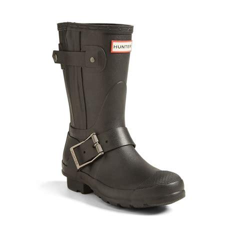 short black moto boots hunter short moto rain boot rank style
