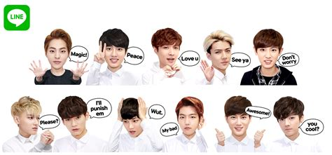 theme line free exo news line releases exclusive exo overdose stickers for