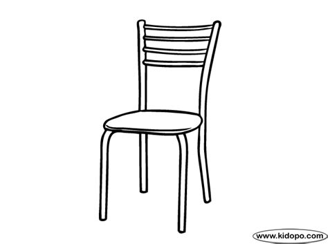 coloring page of a kitchen table kitchen chair coloring page