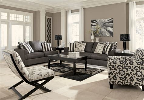 overstock living room sets levon charcoal sofa set lexington overstock warehouse