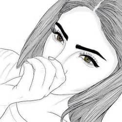 Cool Shape Outlines To Draw by Dessin Fille Image 5130161 Par Nerita Sur Favim Fr