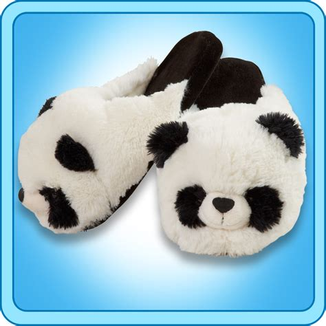 pillow pet slippers pillow pets authentic comfy panda slippers gift