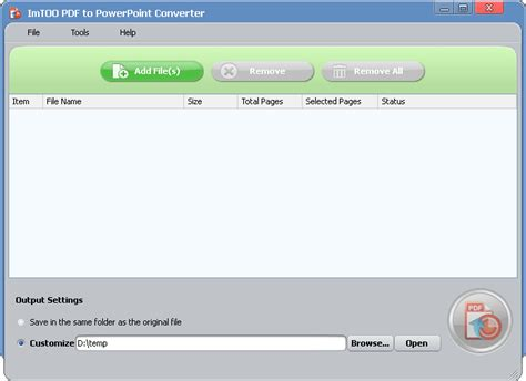 file format converter read only imtoo pdf to powerpoint converter imtoo pdf to