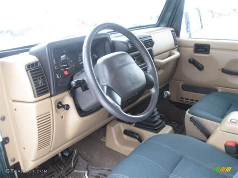 1999 Jeep Wrangler Interior Camel Green Interior 1999 Jeep Wrangler 4x4