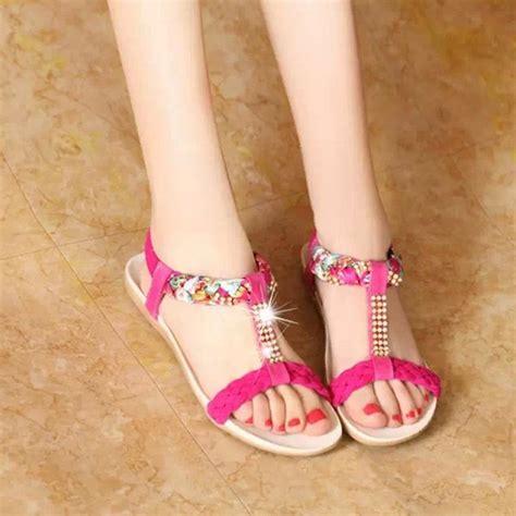 cheap summer sandals saa3262 cheap summer shoes t shape rhinestone