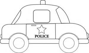 Police Car Clipart Image  Clip Art Illustration Of An Outline A sketch template