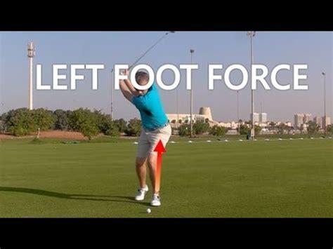 left leg in golf swing left leg force in a golf swing youtube