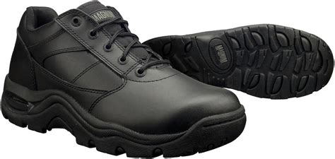 magnum viper low slip resistant black leather work shoes