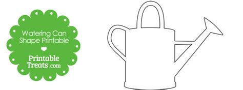 Watering Can Template Cards by Printable Watering Can Shape