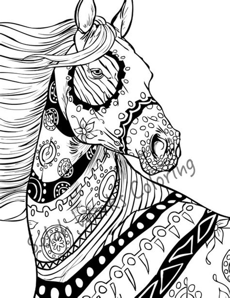 zentangle horse coloring page zentangle horse adults coloring pages animal pages