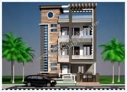Gaj To Feet modern elevation design of residential buildings home