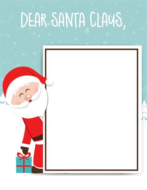 santa claus letter printable kids